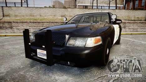 Ford Crown Victoria CHP CVPI Slicktop [ELS] for GTA 4