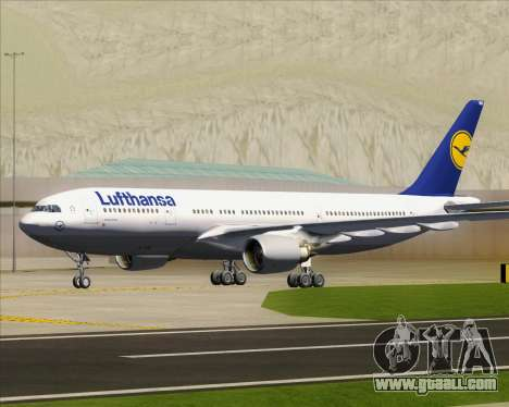 Airbus A330-200 Lufthansa for GTA San Andreas upper view