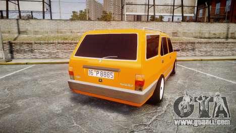 Tofas Kartal SLX Taxi for GTA 4 back left view