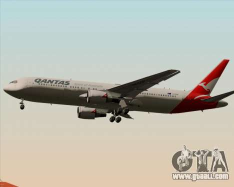 Boeing 767-300ER Qantas (New Colors) for GTA San Andreas back view