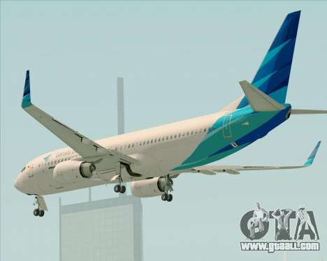 Boeing 737-800 Garuda Indonesia for GTA San Andreas bottom view