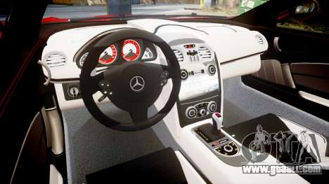 Mercedes-Benz SLR 722 2005 for GTA 4 inner view