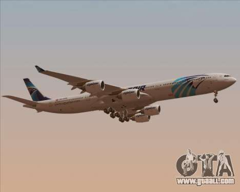 Airbus A340-600 EgyptAir for GTA San Andreas side view