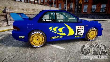 Subaru Impreza WRC 1998 Rally v3.0 Yellow for GTA 4 left view