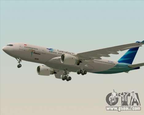 Airbus A330-243 Garuda Indonesia for GTA San Andreas left view