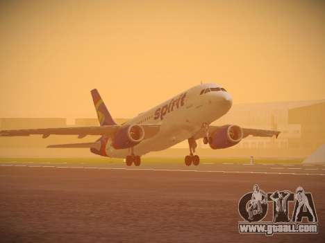 Airbus A319-132 Spirit Airlines for GTA San Andreas left view