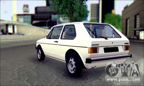 Volkswagen Golf Mk1 for GTA San Andreas left view