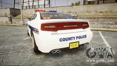 GTA V Bravado Buffalo Liberty Police [ELS] for GTA 4 back left view