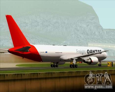 Boeing 767-300F Qantas Freight for GTA San Andreas side view