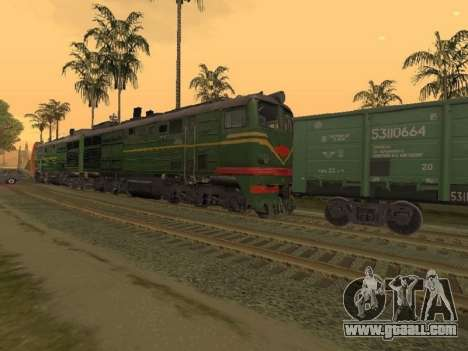 Locomotive 2TE10L-079 for GTA San Andreas left view