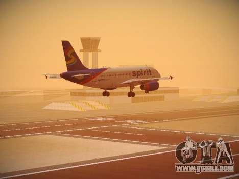 Airbus A319-132 Spirit Airlines for GTA San Andreas engine