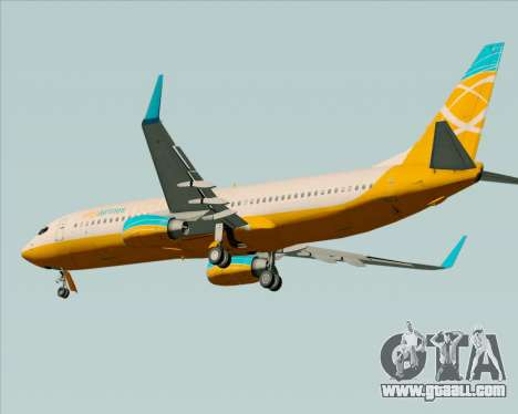Boeing 737-800 Orbit Airlines for GTA San Andreas back view