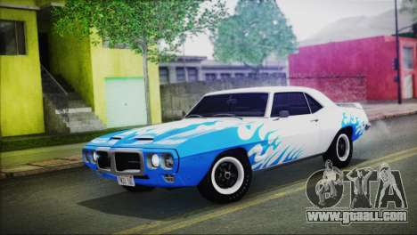 Pontiac Firebird Trans Am Coupe (2337) 1969 for GTA San Andreas side view