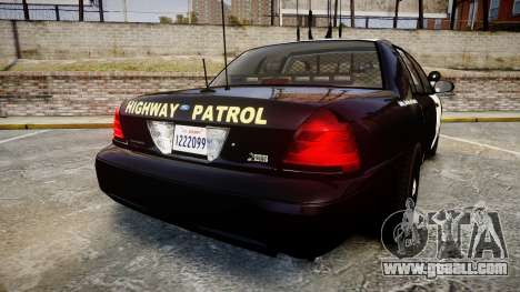 Ford Crown Victoria CHP CVPI Slicktop [ELS] for GTA 4 back left view