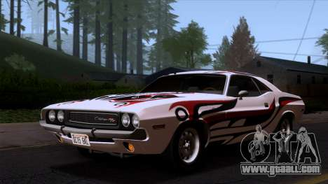 Dodge Challenger 426 Hemi (JS23) 1970 (ImVehFt) for GTA San Andreas interior