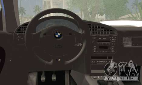 BMW M3 E36 Cabrio for GTA San Andreas back left view
