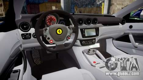 Ferrari FF 2012 Pininfarina Blue for GTA 4 inner view
