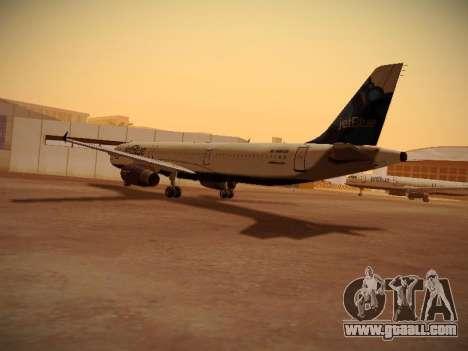 Airbus A321-232 jetBlue La vie en Blue for GTA San Andreas back left view