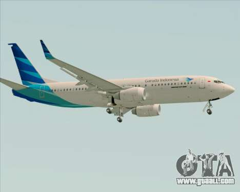 Boeing 737-800 Garuda Indonesia for GTA San Andreas back left view