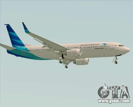Boeing 737-800 Garuda Indonesia for GTA San Andreas back left view