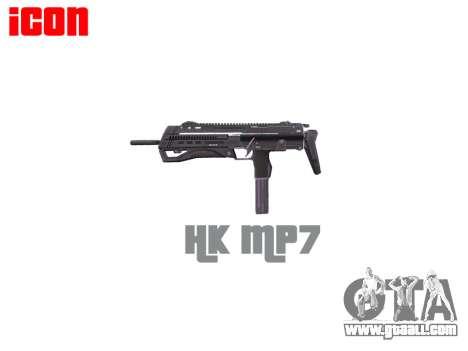 Submachine gun HK MP7 for GTA 4 third screenshot