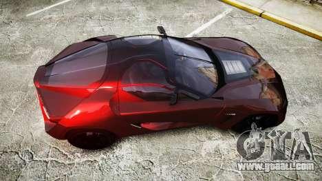 Bertone Mantide 2009 for GTA 4 right view