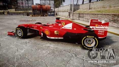 Ferrari F138 v2.0 [RIV] Alonso TSD for GTA 4 left view