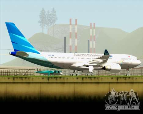 Airbus A330-243 Garuda Indonesia for GTA San Andreas bottom view
