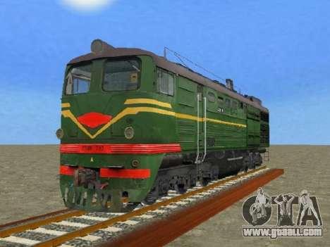 Locomotive 2TE10L-079 for GTA San Andreas