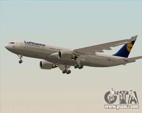 Airbus A330-200 Lufthansa for GTA San Andreas back left view