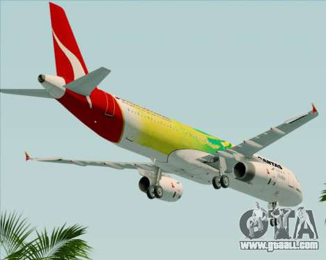 Airbus A321-200 Qantas (Socceroos Livery) for GTA San Andreas side view
