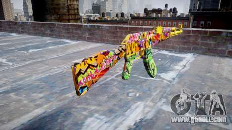 АК-47 graffiti camo for GTA 4 second screenshot