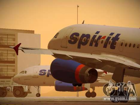 Airbus A319-132 Spirit Airlines for GTA San Andreas