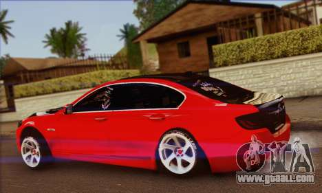 BMW 535i F10 Stance Works for GTA San Andreas left view