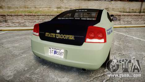 Dodge Charger 2010 Alabama State Troopers [ELS] for GTA 4 back left view
