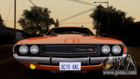 Dodge Challenger 426 Hemi (JS23) 1970 (ImVehFt) for GTA San Andreas back view
