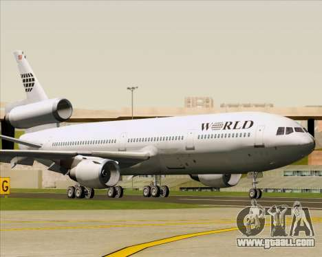 McDonnell Douglas DC-10-30 World Airways for GTA San Andreas left view