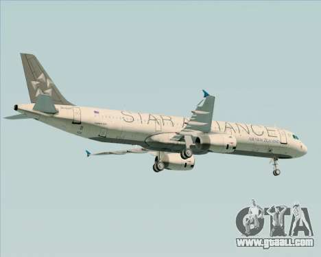Airbus A321-200 Air New Zealand (Star Alliance) for GTA San Andreas engine