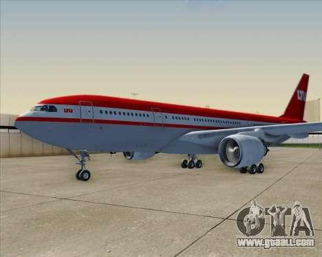 Airbus A330-200 LTU International for GTA San Andreas wheels