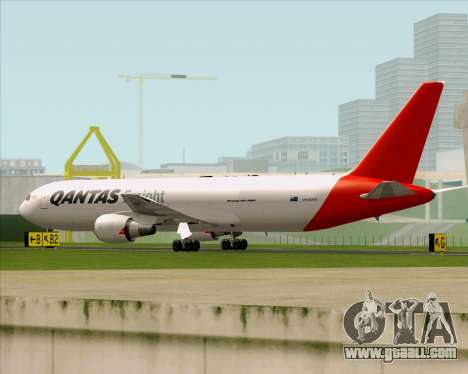 Boeing 767-300F Qantas Freight for GTA San Andreas back left view