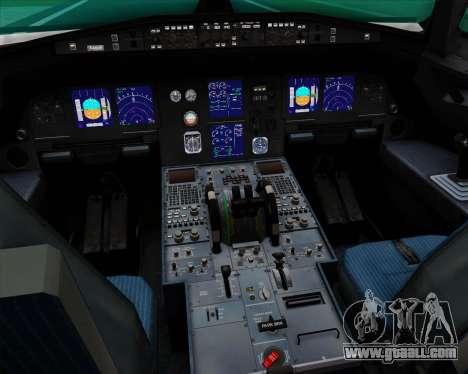 Airbus A321-200 Qantas (Socceroos Livery) for GTA San Andreas interior