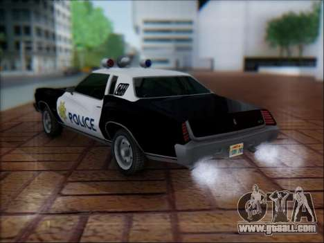 Chevrolet Monte Carlo 1973 Police for GTA San Andreas back left view