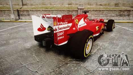 Ferrari F138 v2.0 [RIV] Alonso TSD for GTA 4 back left view