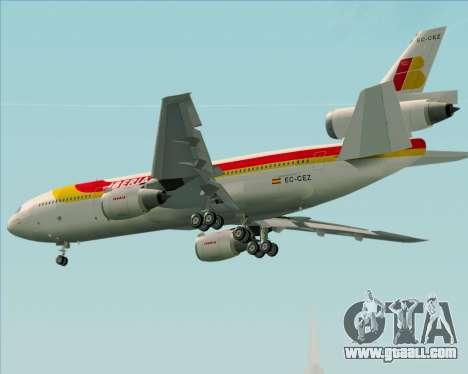 McDonnell Douglas DC-10-30 Iberia for GTA San Andreas right view