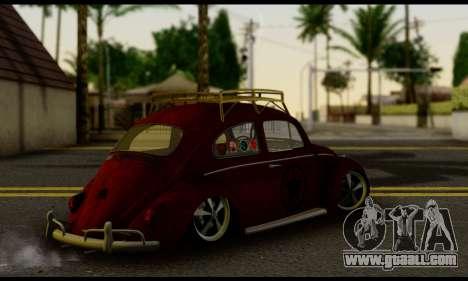 Volkswagen Fusca 1976 Rust Camber for GTA San Andreas left view