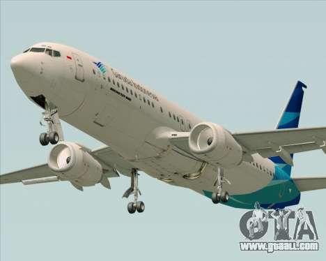Boeing 737-800 Garuda Indonesia for GTA San Andreas interior