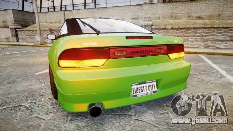 Nissan 240SX S13 Tuned for GTA 4 back left view