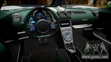 Koenigsegg Agera R 2013 [EPM] v1.5 for GTA 4 back view