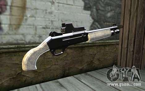 Silver Shotgun for GTA San Andreas second screenshot