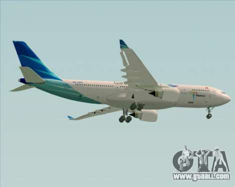 Airbus A330-243 Garuda Indonesia for GTA San Andreas inner view